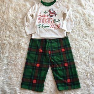 Christmas pajamas, size 4. Fleece plaid pants